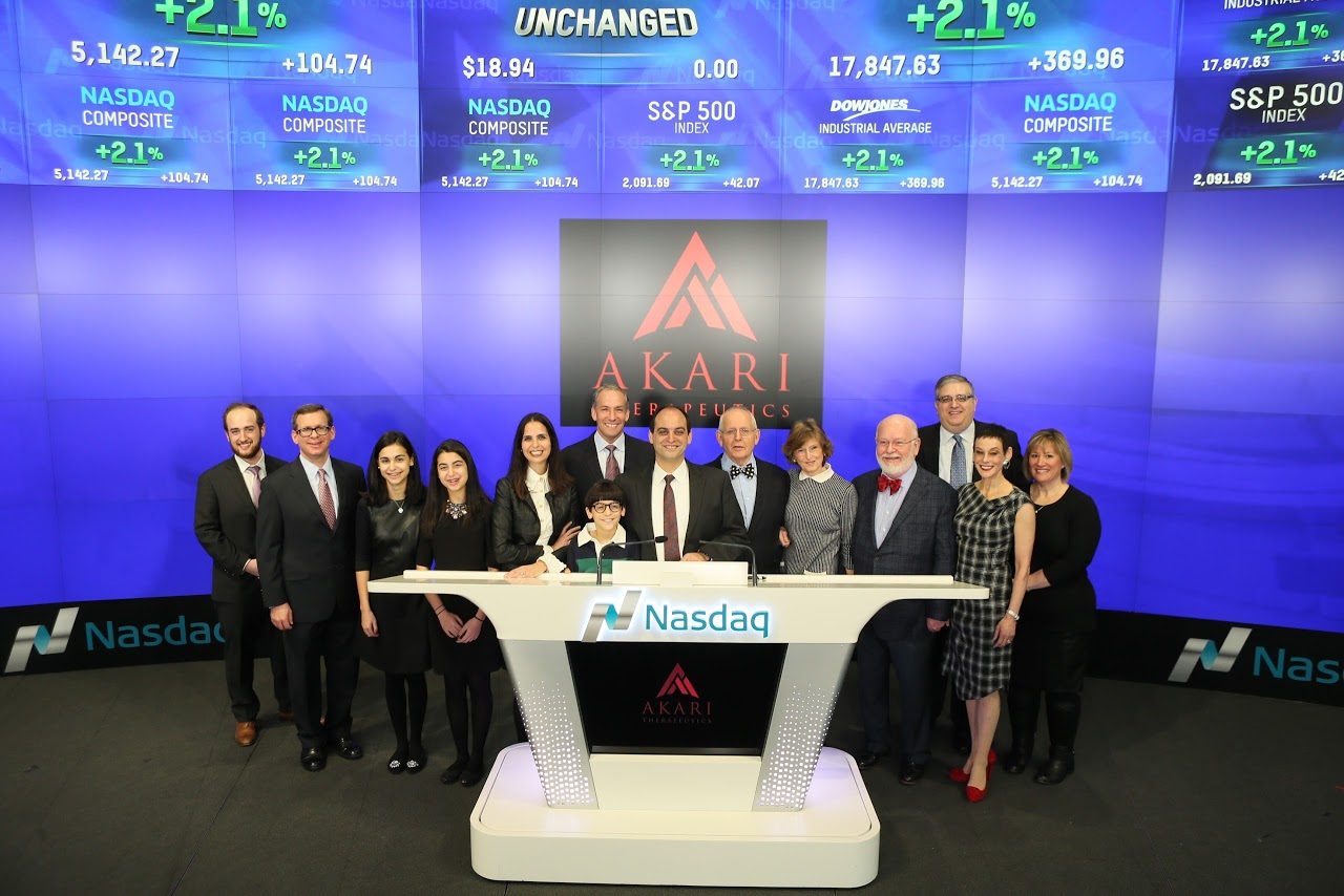 Akari Therapeutics Opens Trade On Nasdaq Stock Market Pearl Cohen